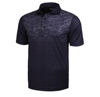 Greg Norman Spacedye Chest Print Polo, Navy