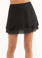 Lucky in Love Star Burst Skort-Short, Black