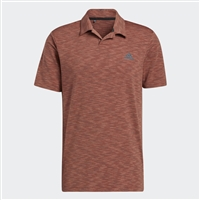 adidas Mens Broken-Stripe Polo Shirt, Wild Sepia/Acid Orange/Wild Teal