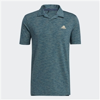 adidas Mens Broken-Stripe Polo Shirt, Wild Teal/Acid Mint/Acid Orange