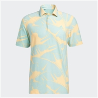 adidas Print Polo Shirt, Acid Orange/Acid Mint