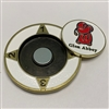 "Glen Abbey - 1.5"" Golf Medallion with Removable Ball Marker"