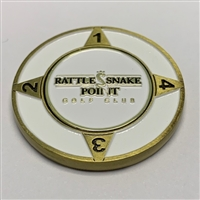 "RattleSnake Point Golf Club - 1.5"" Golf Medallion with Removable Ball Marker"