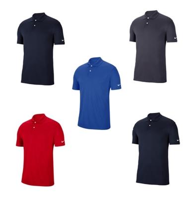 Nike victory custom logo golf shirts for Custom nike golf shirts