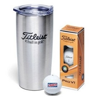 Titleist Pro V1 3-Ball Stainless Steel Travel Mug