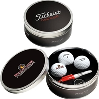 Titleist Pro V1 Tin With Customizable Golf Balls/Lid