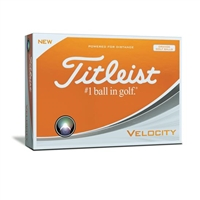 Titleist Velocity Golf Balls - Orange