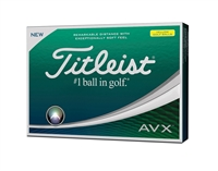 Titleist AVX Optic Yellow Golf Balls (1 dzn)