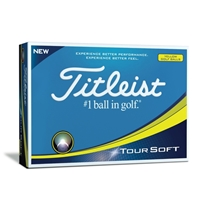 Titleist Tour Soft Golf Ball - Yellow