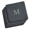 Add a monogram to this set of natural slate coasters for a wedding gift