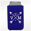 Custom imprinted neoprene can cooler wedding favor