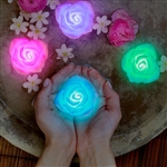 Floating LED Lights in rose shape make lovely centerpiece for your wedding or party