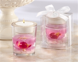 Elegant Orchid Tealight Holder makes a great gift or wedding favor