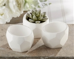 Geometric White Planters wedding (set of 4)