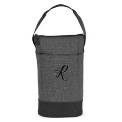 Embroidered Insulated Wine Carrier Gift for the wine lover