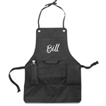 Personalized Just Grillin' Apron Great Wedding Gift