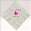Personalized 3-ply soft beverage napkins for your wedding or party