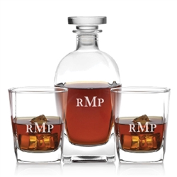 Personalized and Elegant Rossini Whiskey Decanter Set