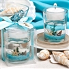 Glass Beach Themed Candle Wedding Favor makes a perfect favor for your beach or tropical wedding