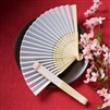 Your guests can use these elegant silk folding fans at the wedding and then take them home to enjoy after the wedding