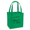 Custom imprinted large recycled tote is perfect gift bag for your wedding guest