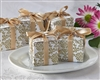 This Classic Favor Box in Gold Damask Pattern makes lovely  packaging for wedding favors