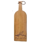 Personalized Wine Shaped Cheese Board made out of durable bamboo