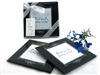"""Memories Forever"" Black Coaster Set is an elegant keepsake favor for your wedding guests"
