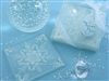 Frosted Snowflake Glass Coaster Set of Two