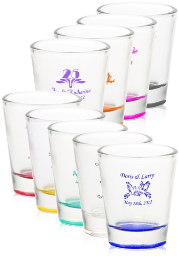 Affordable And Custom Imprinted 175 Shot Glass Wedding Favor