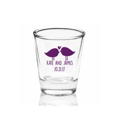 Personalized Clear Shot Glass with wedding favor