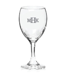 Personalized 8.5 oz. wine glass wedding keepsake