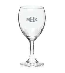 Add you names and wedding date, monogram, or other special message to these wine glasses a for a  great keepsake favor.