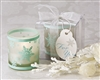 "Set of ""Winter Lights"" Snowflake Votive Tea Light Candles perfect keepsake gift for a winter or holiday wedding"