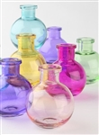 Glass Bud Vases (set of 5) in several colors