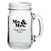 Custom imprinted mason jar wedding or party favor