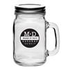 Fill these 16 oz. Personalized Mason Jars with handle and lid with beer, punch, iced tea or other beverage