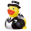 Custom imprint this adorable rubber duck groom for a unique wedding favor