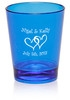 Personalized colored plastic shot glass