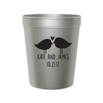 16 oz. personalized smooth stadium cup wedding or party favor | affordable