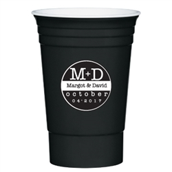 Classic party cup personalized for your wedding reception, party or other event