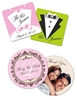 Full Color wedding coasters can be used as wedding favors, save the dates or even escort cards.