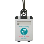 Affordable Personalized Suitcase shaped luggage tag favor