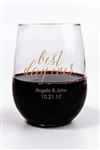 Personalized and affordable wedding stemless wine glasses