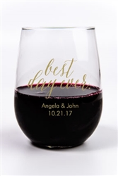 Personalized and affordable 9 oz. stemless wine glasses