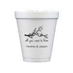 Personalized 8 oz. Styrofoam Cups - Set of 25