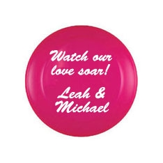 "Personalized 9"" Flying Disc or Frisbee Wedding Favor"