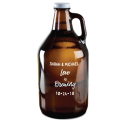 Imprint monogram, initial or special message on this 64 oz. Amber Beer Growler