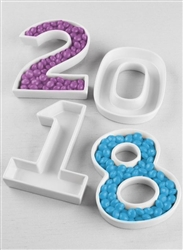 Fill this Ceramic Number Dish with Candy for a Candy Bar or Dessert Table at the Reception