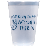Personalize these 12 oz. shatterproof frosted cups for an affordable and practical wedding favor